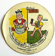 VINTAGE 78RPM CHILDRENS PICTURE DISC PEASE PORRIDGE HOT / SLEEP BABY SLEEP