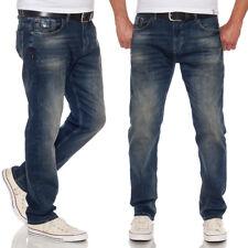 M.O.D Herren Jeans Ricardo Abbaretz Blue Used Look