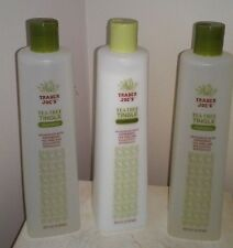 3 Bottles Trader Joe's Organic Tea Tree Tingle shampoo And Conditioner