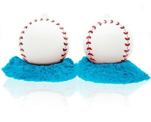 J&M Gender Reveal Baseballs - 2 Pack - 100% All Natural Holi Powder
