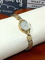 Caravelle/Bulova N4 Vintage Gold Tone Cocktail Mechanical Ladies Watch WORKS!