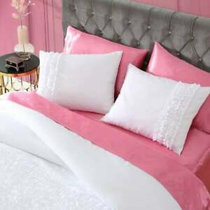 ❤️VERY RARE- BETSEY JOHNSON PINK SATIN KING SIZE 4 PIECE SHEETS SET❤️