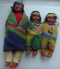 Vintage SKOOKUM Doll Lot Bullygood Indian Native America
