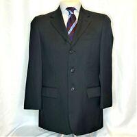 Perry Ellis Men's Size M 40 Regular Black Blazer Sport Coat Jacket Two Button