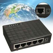 Black Fast Ethernet Network Switch 5 ports RJ-45 10/100M Auto-MDI/MDIX Hub D)