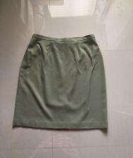 Women's Green Liz Claiborne Solid Lined Straight Skirt sz 16