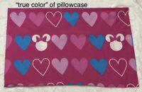 Disney Minnie Mouse Bowtique Standard Pillowcase Microfiber *FLAW 2 Dots* ~GUC