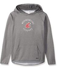 Under Armour NCAA Girls' Fleece Hood, Gray, Medium Washington State Cougars