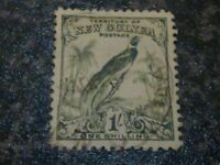 NEW GUINEA POSTAGE STAMP SG185 1/- BLUE GREEN FINE USED