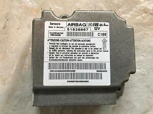 FIAT G.P ABARTH 2009 AIRBAG ECU 51838067 GUARANTEED NO CRASH DATA INC FREE DEL