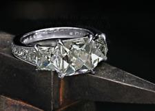 14k White Gold Over 2.25Ct Princess Diamond Three Stone Wedding Engagement Ring