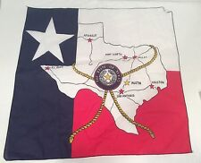 State of Texas Scarf Map Star Red White Blue Pillow Craft Accessory Wall Decor