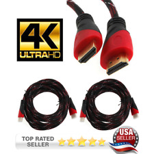 2PK 25FT 4K HDMI CABLE  ARC FOR SMART TV, PS4, XBOX, W/ AUDIO Return USA