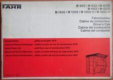 Deutz Fahr Fahrerkabine M 900 , M 922 , M 1002 , M 1102 ... Ersatzteilliste