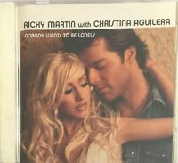RICKY MARTIN WITH CHRISTINA AGUILERA : NOBODY WANTS TO BE LONELY - [ CD MAXI ]