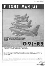 FIAT G.91 R-3 R-4 1960's ARCHIVED MANUALS RARE  HISTORIC PERIOD DETAIL Orpheus
