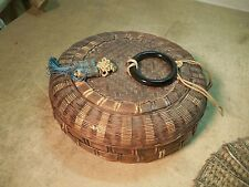 Small Old Wicker Sewing Basket