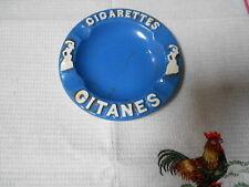 French Ceramic BLUE ASHTRAY on CIGARETTES GITANES