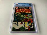 DEMON 7 CGC 9.4 WHITE PAGES 1ST KLARION WITCH BOY DC COMICS 1973