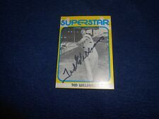Ted Williams Autographed Baseball Card - Boldly Signed In Black Marker