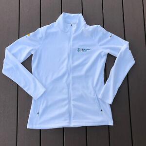 Nike Jacket Zip Up Womens XL Extra Large Dri Fit Gold White Glen Oaks