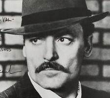 Stacy Keach Original Autographed Black & White Photograph Handsome Movie Star