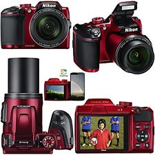 Nikon COOLPIX B500 16.0MP Digital Camera - red  (Latest Model)