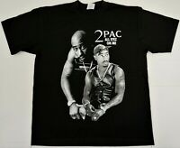 TUPAC SHAKUR T-shirt 2Pac Urban Streetwear Hip Hop Rap Tee Adult Men's New