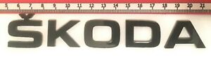 """SKODA"" GLOSS BLACK REAR BADGE LOGO LETTERS BESPOKE 3mm ACRYLIC 3M BACKING"