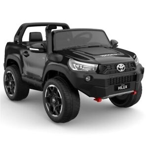Toyota Hilux Ute 2021, 4x4 4WD Licensed Electric Ride On Toy for Kids - Black