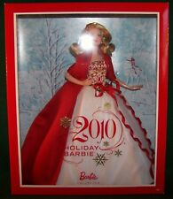 Mattel Holiday Barbie Collector Doll Beautiful Red & White Gown 2010 NRFB