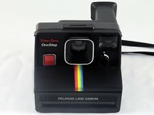 Vintage Polaroid SX-70 OneStep Black Rainbow Stripe Land Camera TESTED & WORKING