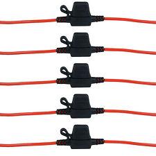 5 x In-line Mini Blade Fuse Holder Splash Proof for 12V 20A Fuses Car