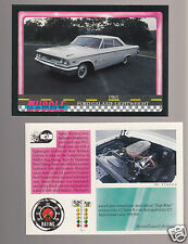 1963 FORD GALAXIE LIGHTWEIGHT 427/425hp V8 Muscle Car Photo 1991 TRADING CARD