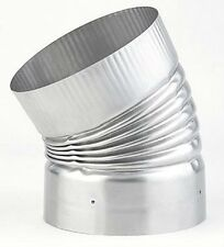"""HEAT FAB SAF-T LINER 7"""" 30 DEGREE RIGID ELBOW 304 STAINLESS STEEL"""