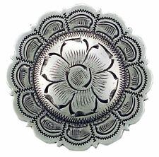 "Western Lodge Cabin Kitchen Decor 1 1/2"" Silver Flower Concho Drawer Pulls (6)"