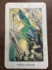 Aleister Crowley Thoth Tarot Small Deck Princess Of Swords INDIVIDUAL CARD Magik
