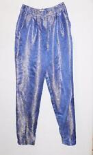 ASOS Designer Blue Gold Silver Floral Slim Leg Dress Pants Size 6-XXS BNWT #SU37