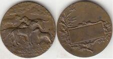 Médaille en bronze Française les chiens de chasse