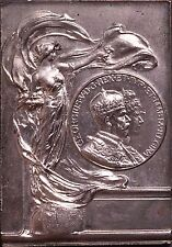 1911 GEORGE V CORONATION SILVER GILT PLAQUE