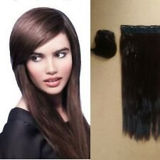 """24"""" clip in extensions & clip on fringe colour- chocolate Brown 2/33 (straight)"""