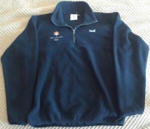 2002 Olympic Salt Lake City Black Fleece Marker Unisex Small Jacket Quarter Zip