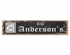SP0449 The ANDERSON'S Family name Plate Sign Bar Store Cafe Home Chic Decor