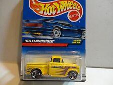 Hot Wheels #1028 Yellow '56 Flashsider Pickup w/3 Spoke Wheels