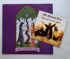 """New listing All About Eve Our Summer 7"""" & Flowers In Our Hair 1987 Uk 12"""" + Promo Press Kit"""