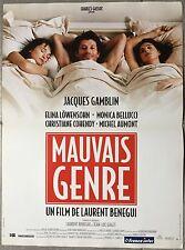 Affiche MAUVAIS GENRE Laurent Bénégui JACQUES GAMBLIN Monica Bellucci 40x60cm *