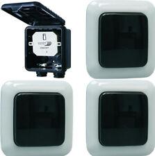 Home Easy Funk-Schalter-Set Einbauschalter 1000W mit 3 Wandschalter outdoor IP44