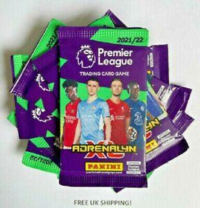 10 x PANINI ADRENALYN XL PREMIER LEAGUE 2021/22 TRADING CARD PACKS