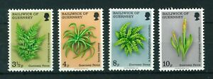Guernsey 1975 Guernsey Ferns full set of stamps MNH. Sg 122-125