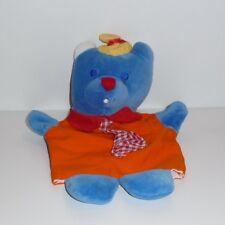 Doudou Ours Musti - Bleu Orange
